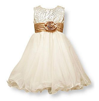 b29eb42fe6 Love this dress for our flower girls! Blush pink instead of gold ...