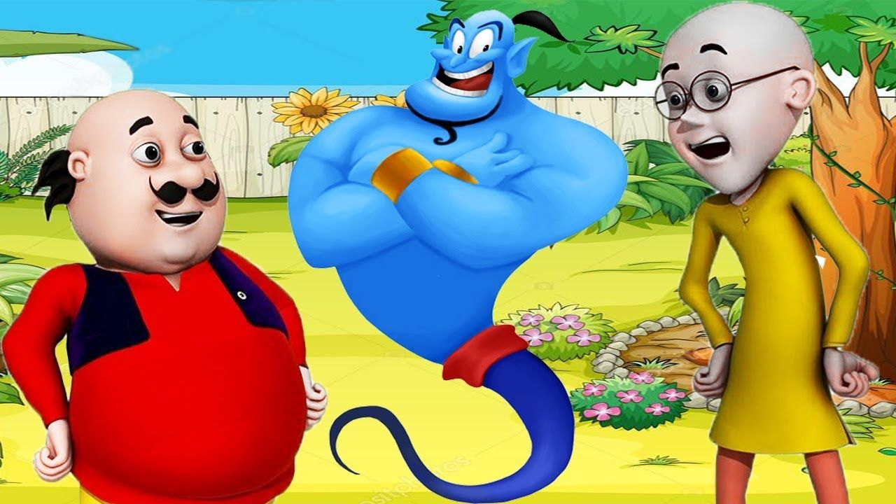 motu patlu aur jin indian famous cartoon in learn colors ice