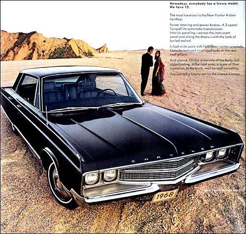 1968 Chrysler New Yorker 4dr Hardtop Print Ad