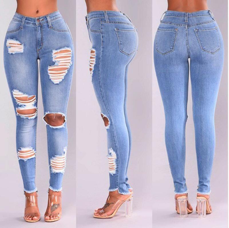 f22930766f7 Long Jeans High Waist Skinny Pencil Denim PU22 in 2019