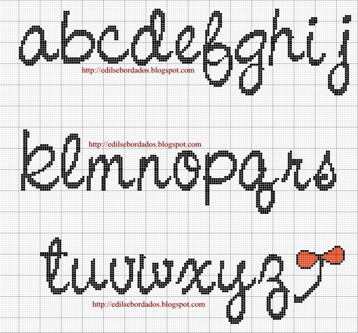 Lettere In Corsivo Punto Croce Alfabeto I Like Cross Stitch