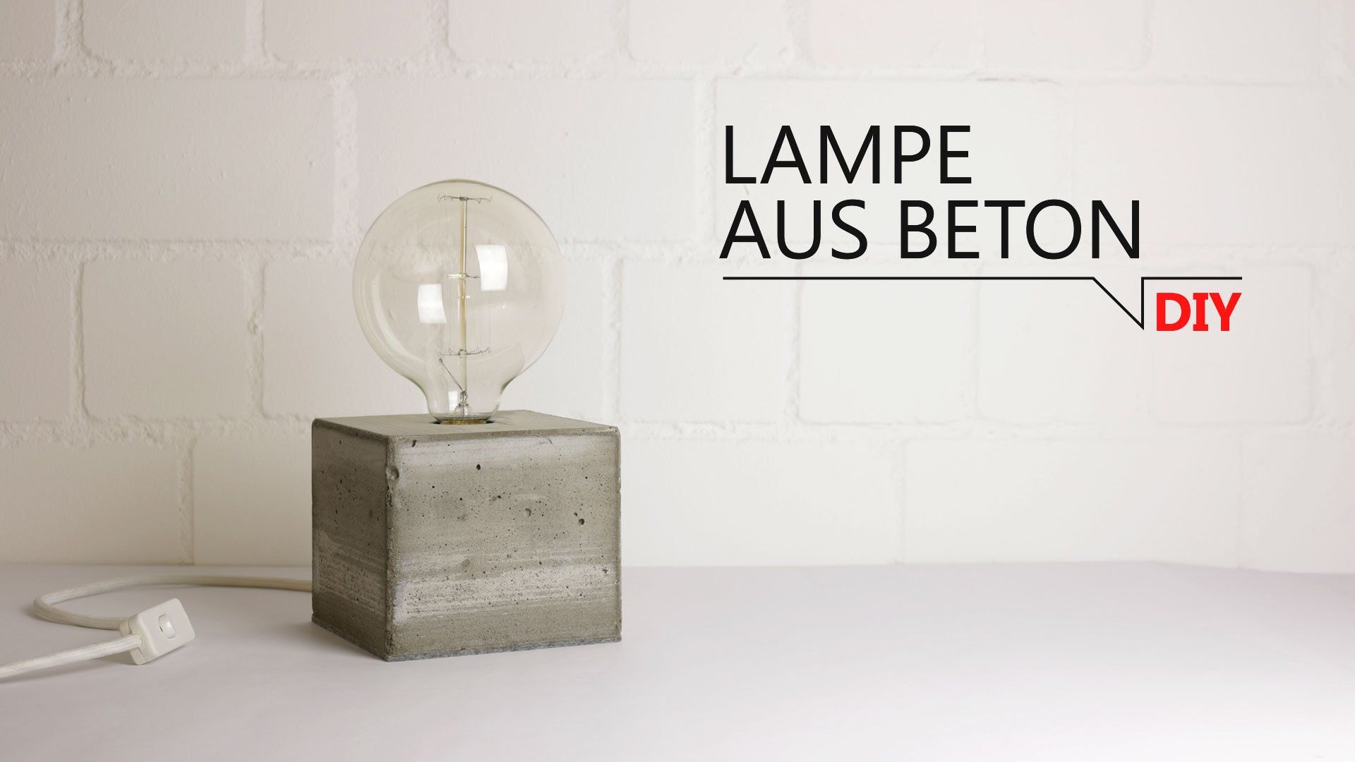 diy lampe aus beton ideen pinterest diy lampe. Black Bedroom Furniture Sets. Home Design Ideas