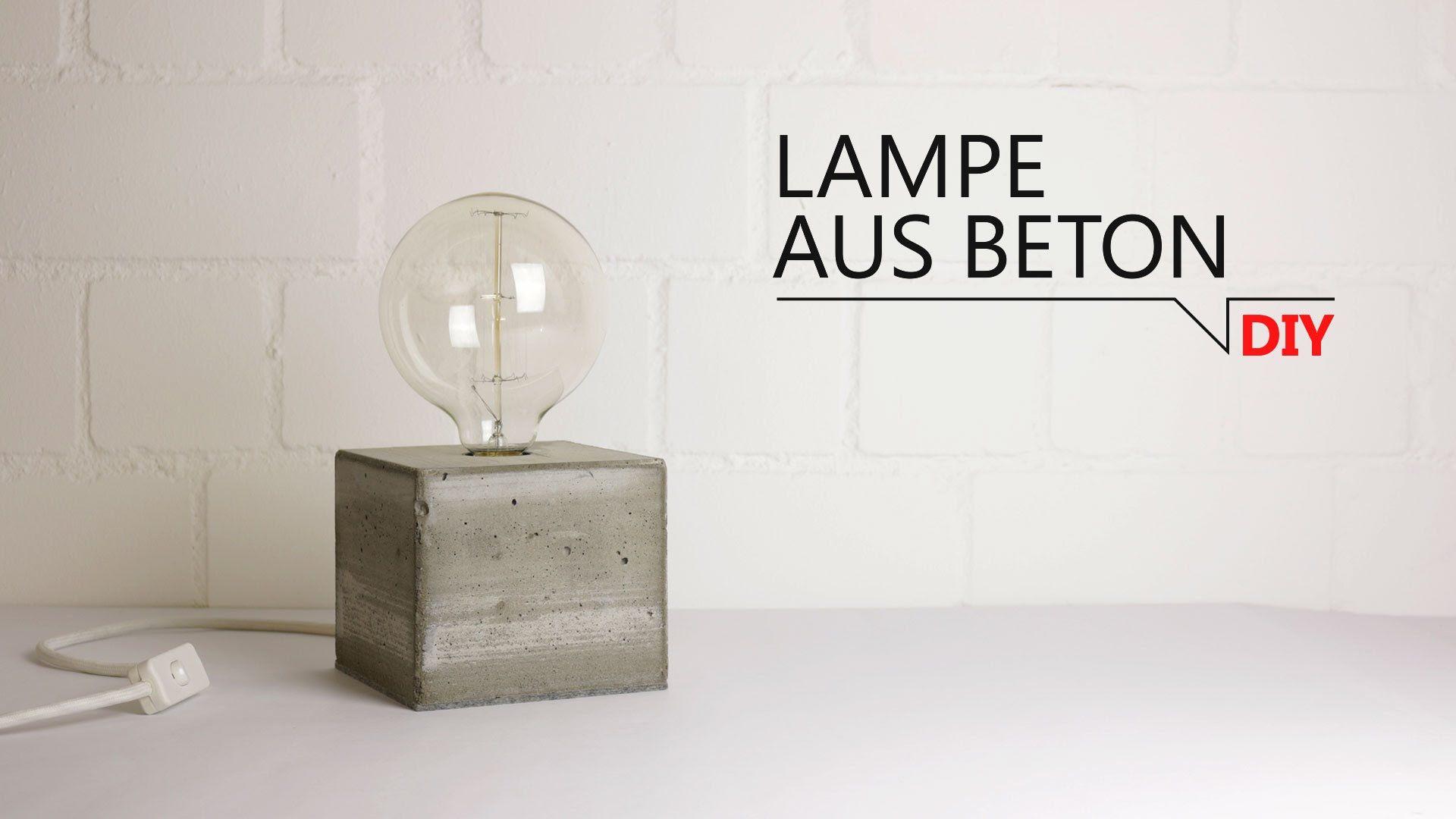 diy lampe aus beton ideen lampen diy lampen und lampen basteln. Black Bedroom Furniture Sets. Home Design Ideas