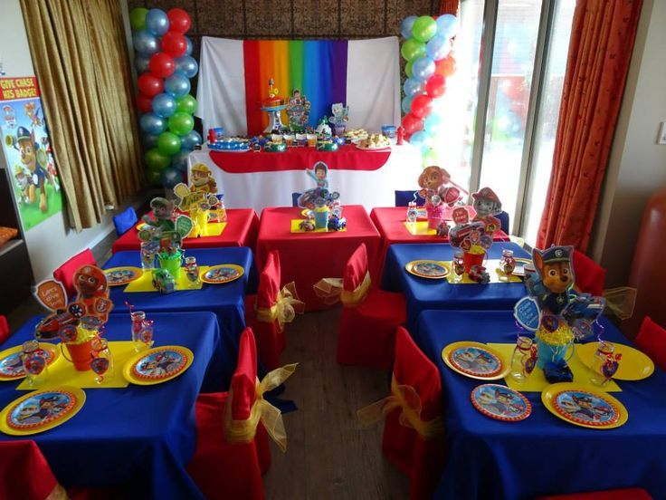 Image Result For Paw Patrol Party Table Setup Paw Patrol Party Food Paw Patrol Party Decorations Paw Patrol Birthday Theme
