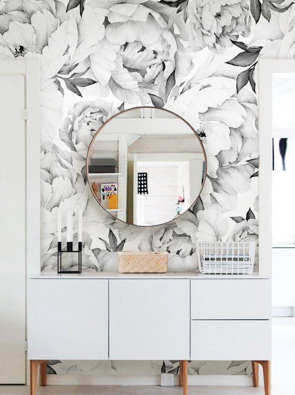 Tia Peel And Stick Wallpaper Tile Flower Mural Wallpaper Accent Wall Wall Art Wallpaper