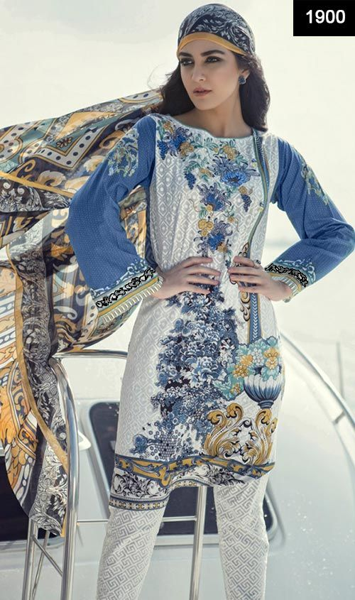 New design of pakistani dresses 2018 summer collection