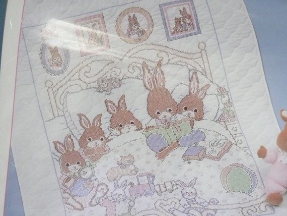 Bucilla Baby Collection The O'Hare Family by SimplyElegantVintage ... : bucilla cross stitch baby quilts - Adamdwight.com