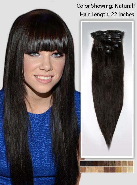 Natural Straight Hair Extensions Ussna22 Black Hair Extensions