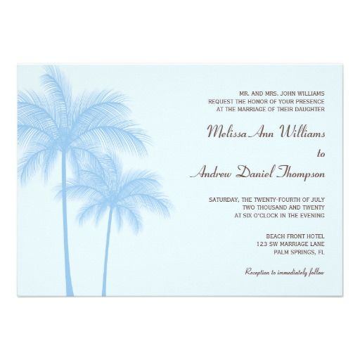 ShoppingBlue Palm Tree Tropical Wedding Invitationsin each seller & make purchase online for cheap. Choose the best price and best promotion as you thing Secure Checkout you can trust Buy best