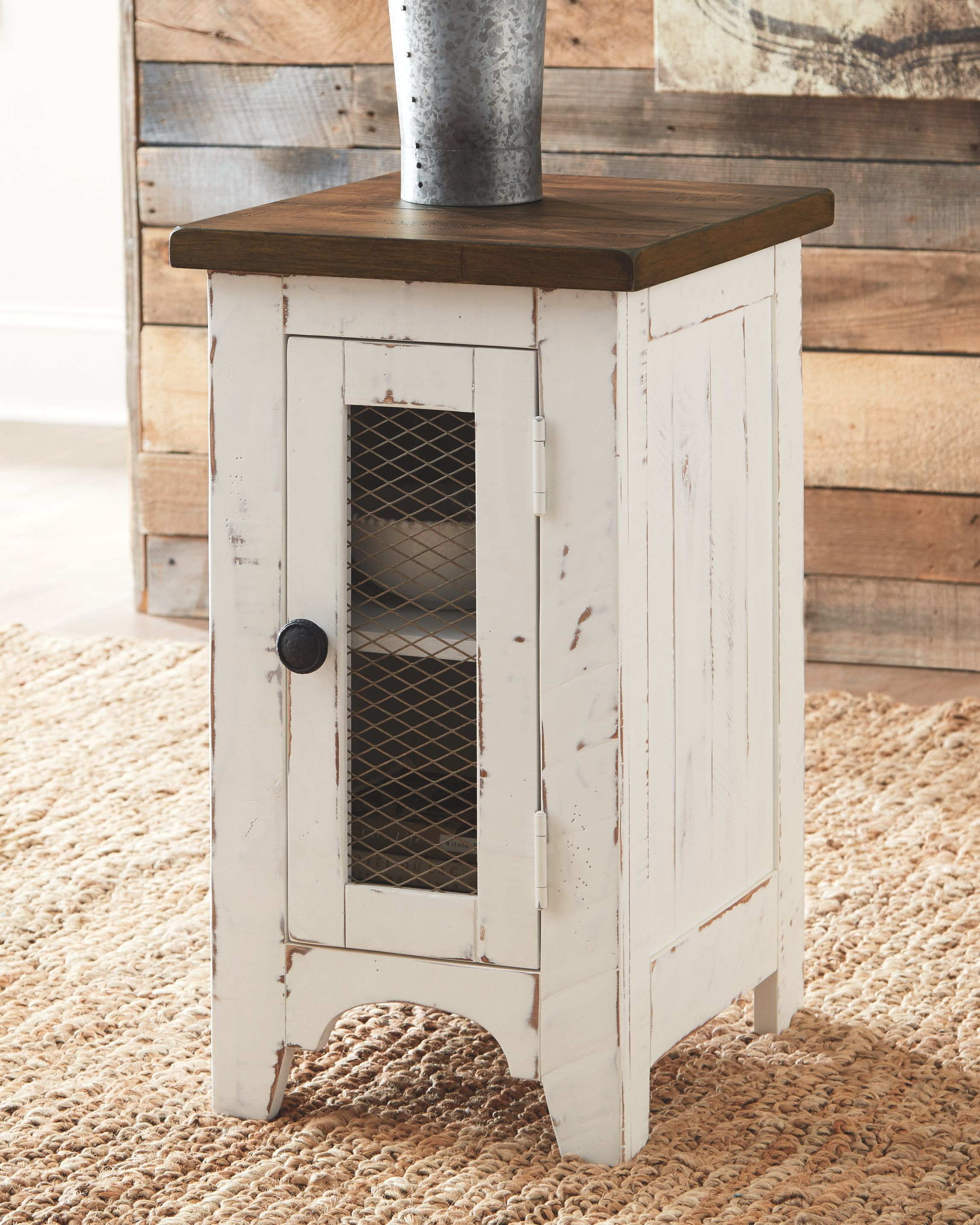 Wystfield Chairside End Table White Brown End Tables With