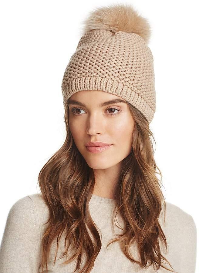 50b412d08b10d Kyi Kyi Slouchy Hat with Fox Fur Pom-Pom - 100% Exclusive