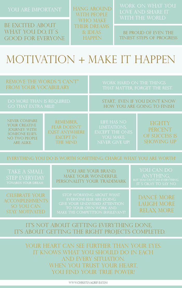 22 Motivational Phrases + Make it Happen. Christina Greve. http://christinagreve.com/motivation-happen/