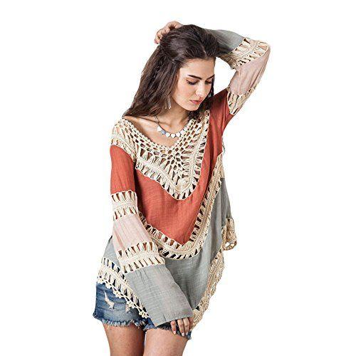 03d11a7dbc0c5 Kuss Online Women's Swimsuit Cover up Crochet V-Neck Tassel Plus Size,Beach  Swimwear Sexy Dress