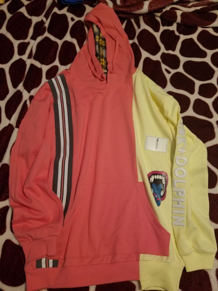 424f31a616bae Pink Dolphin Hoodie Medium Pink Yellow  fashion  clothing  shoes   accessories  mensclothing  activewear (ebay link)