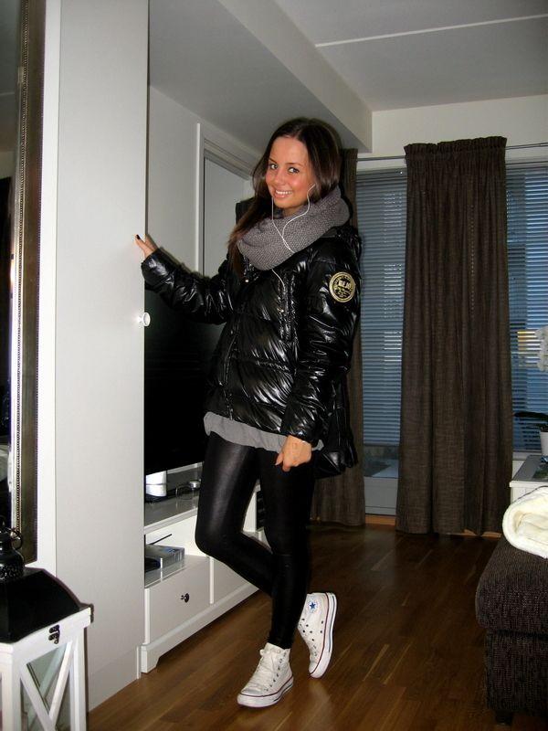 Girl Kejo black and in down jacket leggingsJackenDaunen ZkwiuTOPlX
