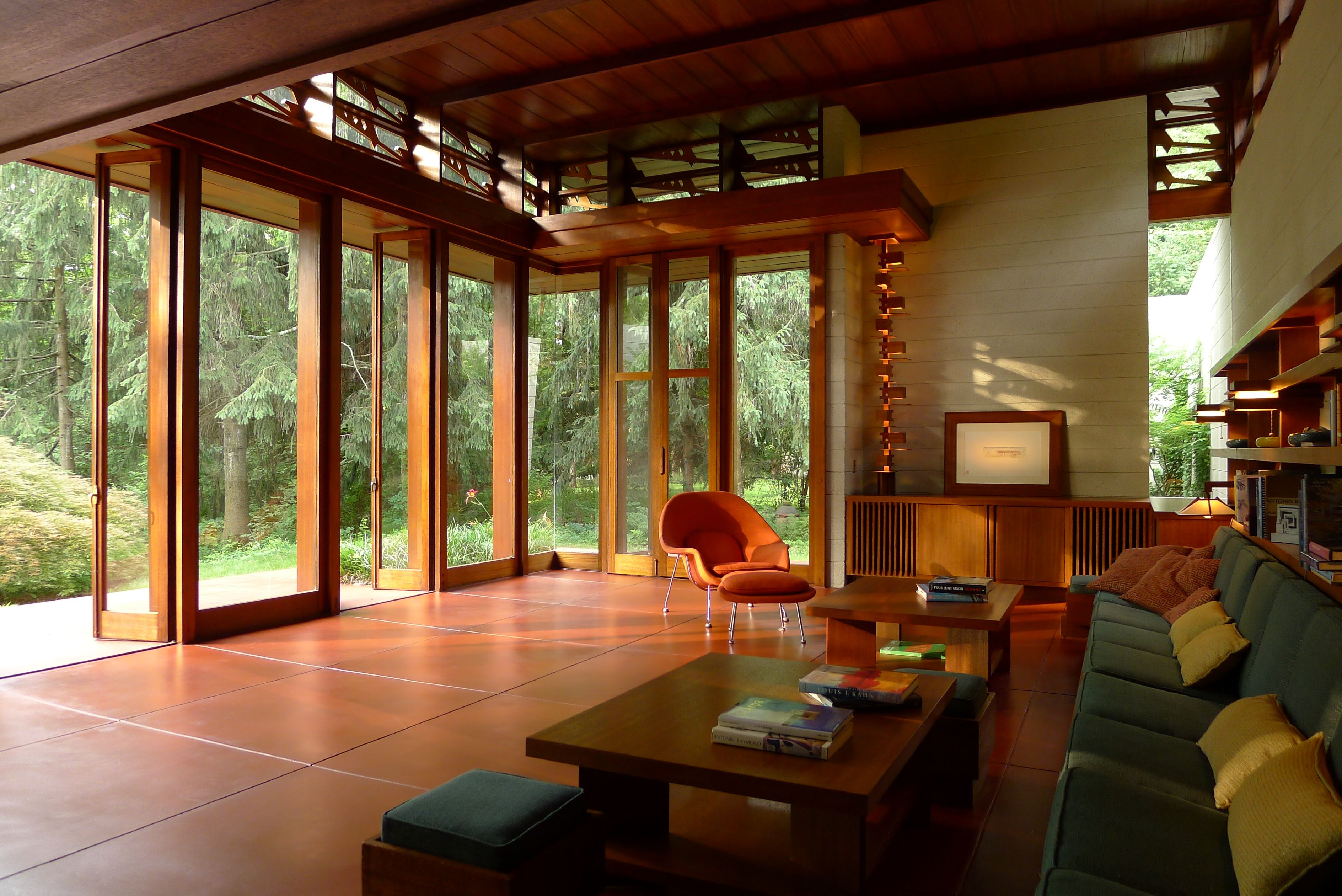 frank lloyd wright usonian house, the bachman wilson house in