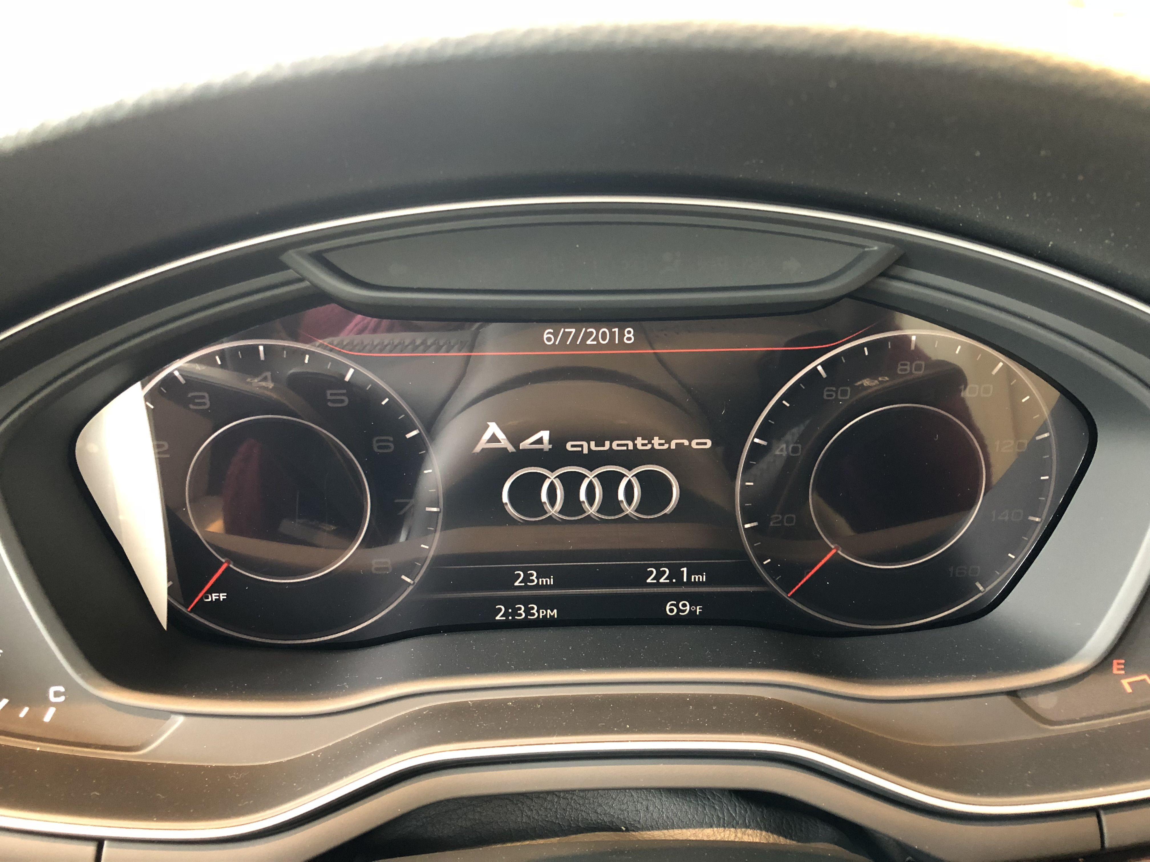 Virtual Dashboard Display On The 2018 Audi A4 Vehicle Located At Audi Of Bridgewater Nj Audi Audi Dealership Used Luxury Cars