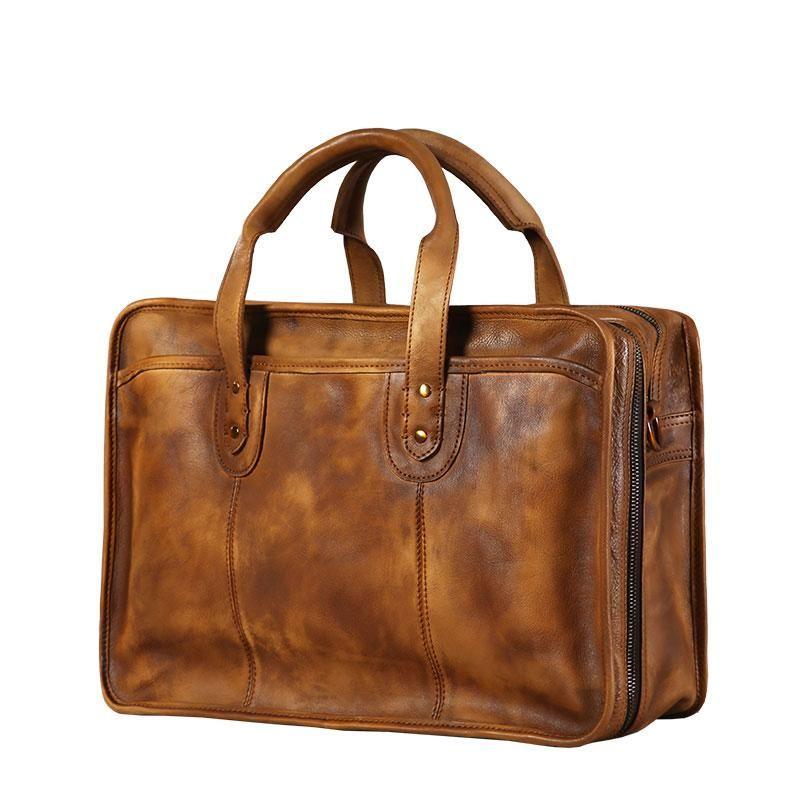 9d374c50adb4 Genuine Leather Mens Large Travel Bag Cool Messenger Bag Shoulder Bag –  iwalletsmen