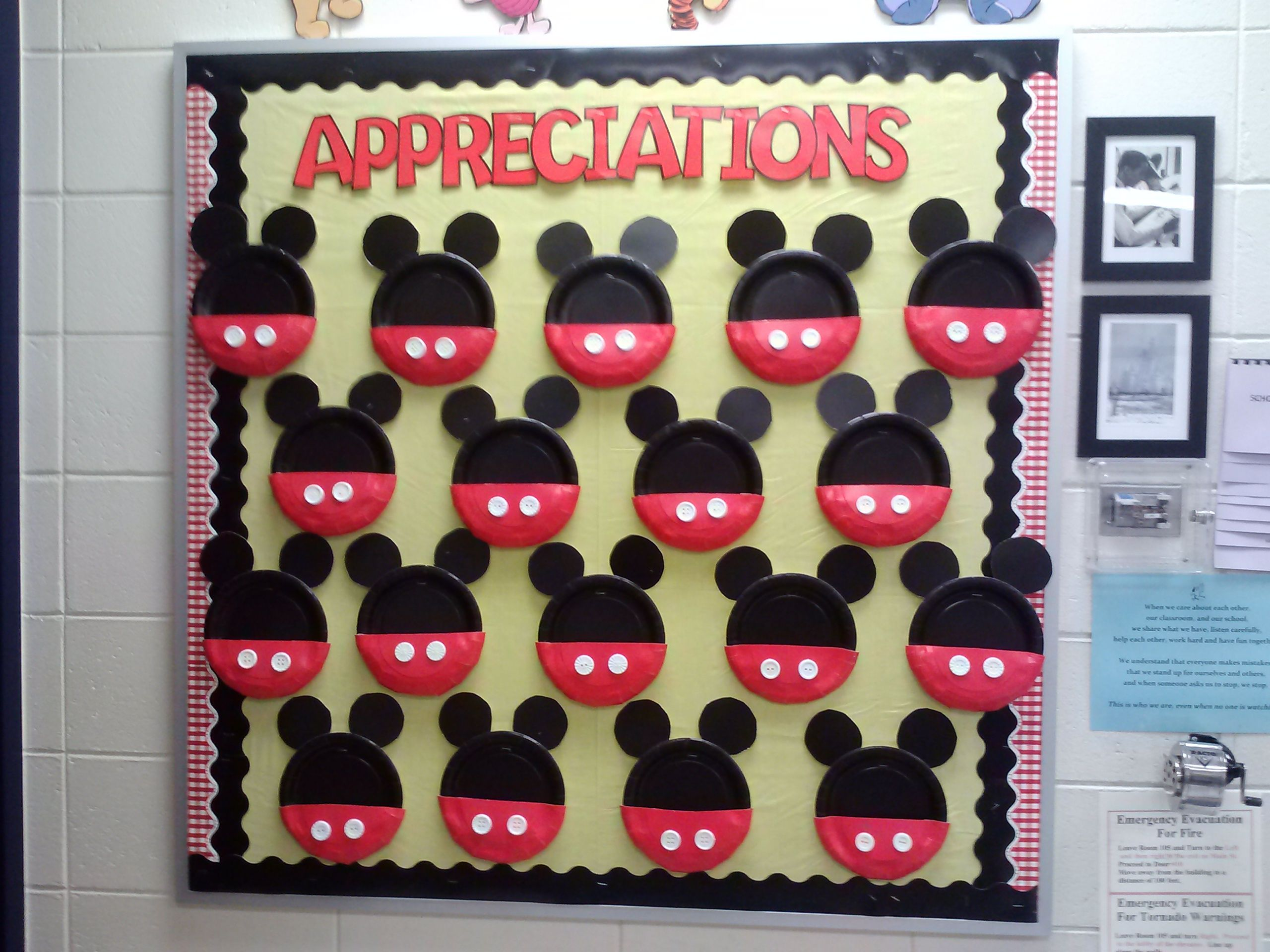 Mickey Mouse appreciation board. Kids can leave ...