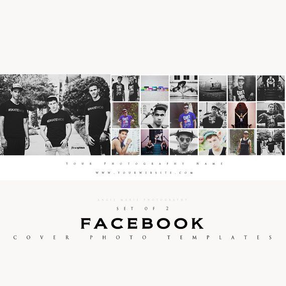 Facebook Cover Photo Storyboard Templates Set of 2 by