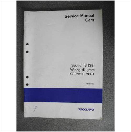 Volvo S80 V70 Wiring Diagram Manual 2001 Tp3950031 On Ebid