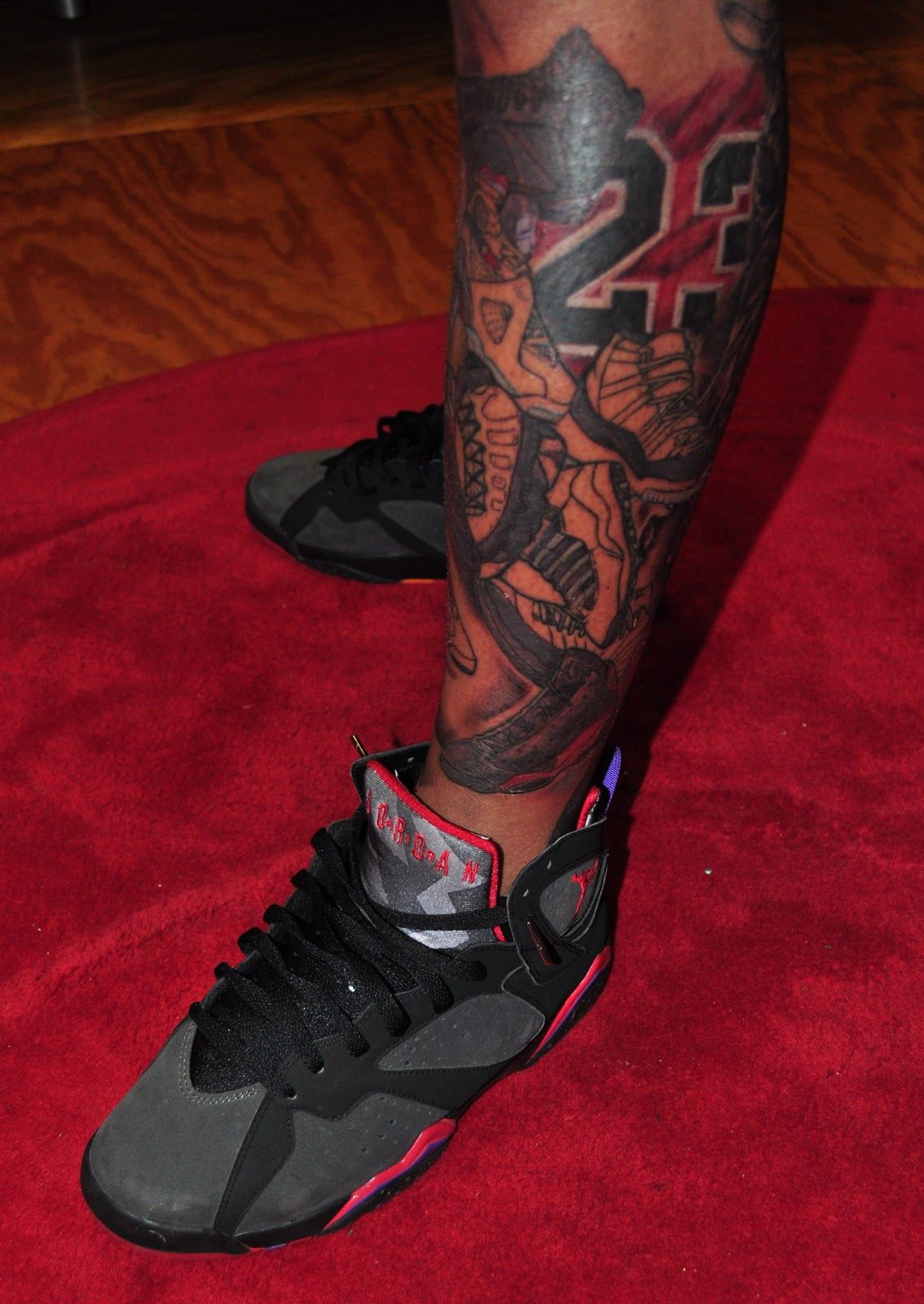 Men tattoos arm sleeve, Jordan tattoo
