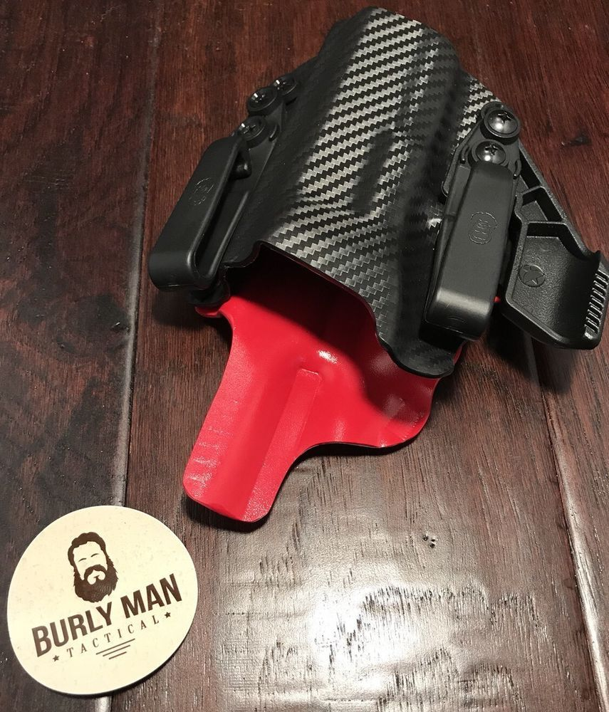 Fits CZ USA CZ P10C Black And EMT Red Kydex Holster IWB