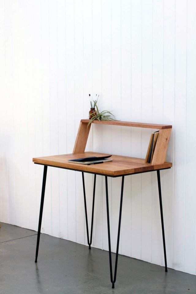 Writing Desk by Leah Hudson-Smith - Table, Desk, Hairpin, Timber ...