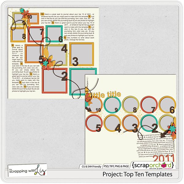 Top Ten List Templates Love This Idea  Digital Scrapbooking