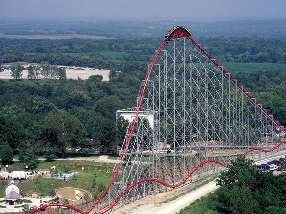 Worlds Of Fun Mamba Ride This Was The Last Roller Coaster That I Ve Ever Ridden I Don T Count The Zingo At O Worlds Of Fun Kansas City Kansas City Missouri