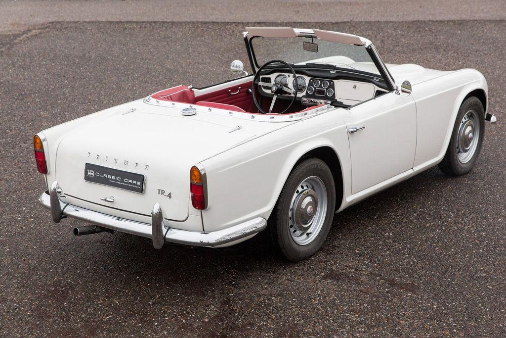 Mint Condition 1964 Triumph Tr4 In White With Red Interior 1961 65