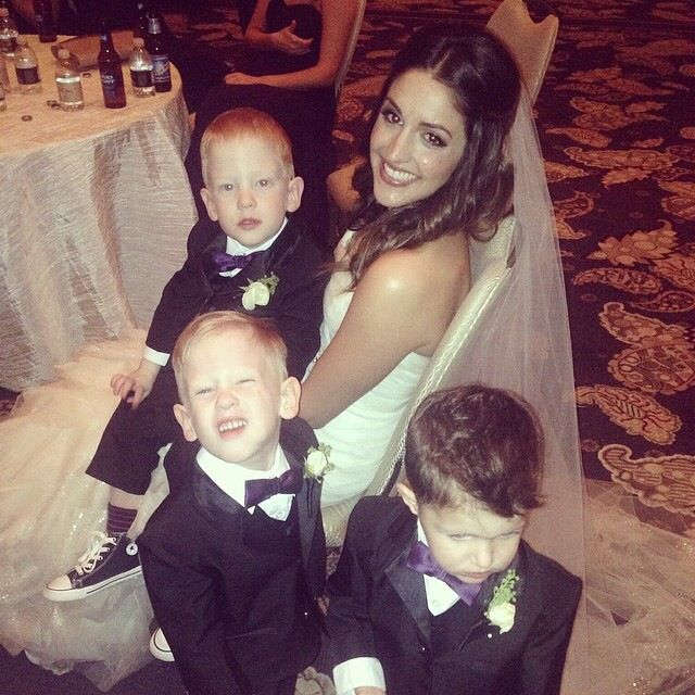The most adorable ring bearers.