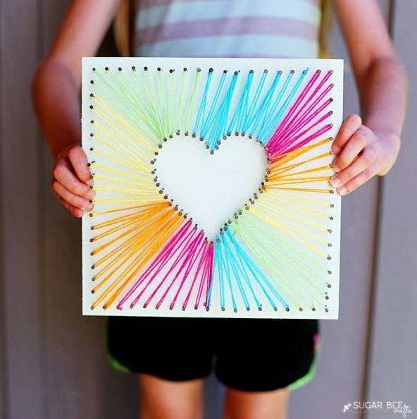 MAKE HEART STRING ART #zimmer+deko