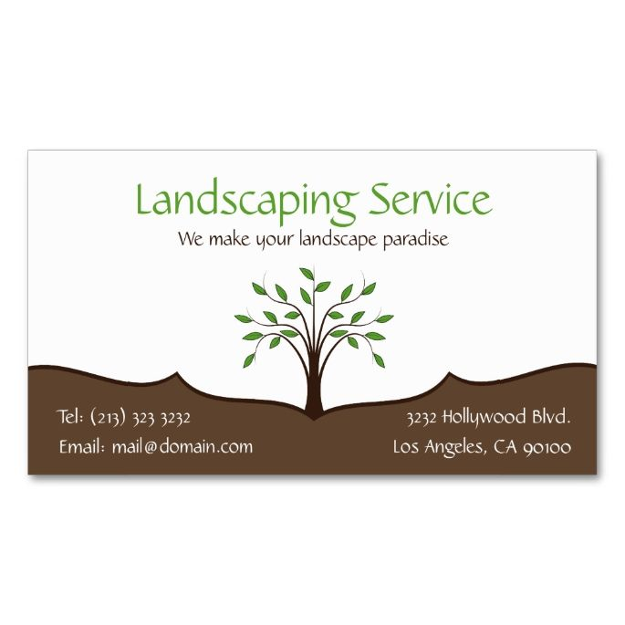 Landscaping service elegant tree nature logo double sided standard landscaping service elegant tree nature logo double sided standard business cards pack of this great business card design is available for customization reheart Image collections
