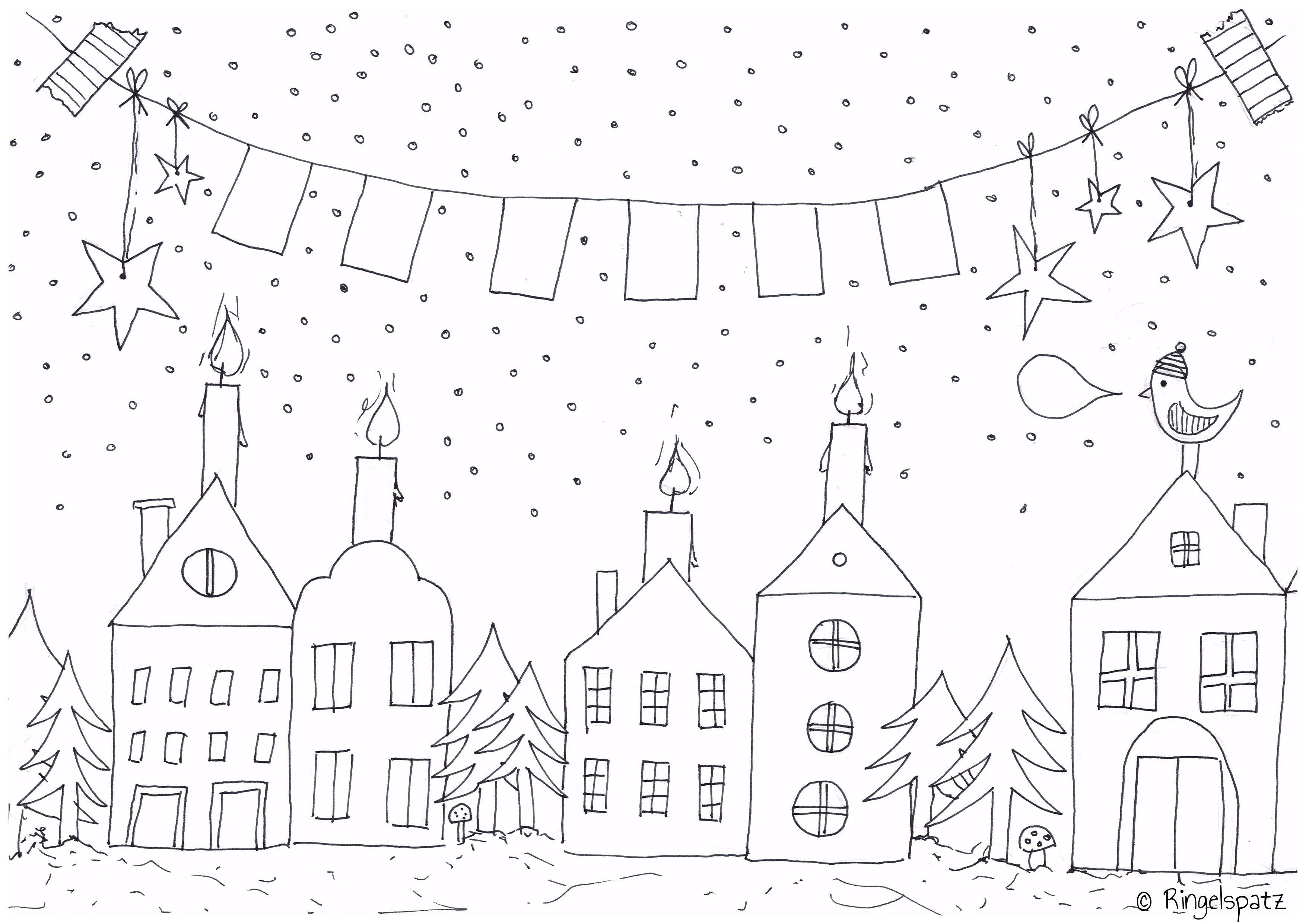 Malvorlage  Decorar ventanas navidad, Ventanas de navidad