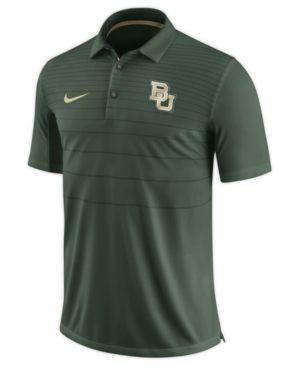 Nike Men's Baylor Bears Early Season Coach Polo - Green XXL