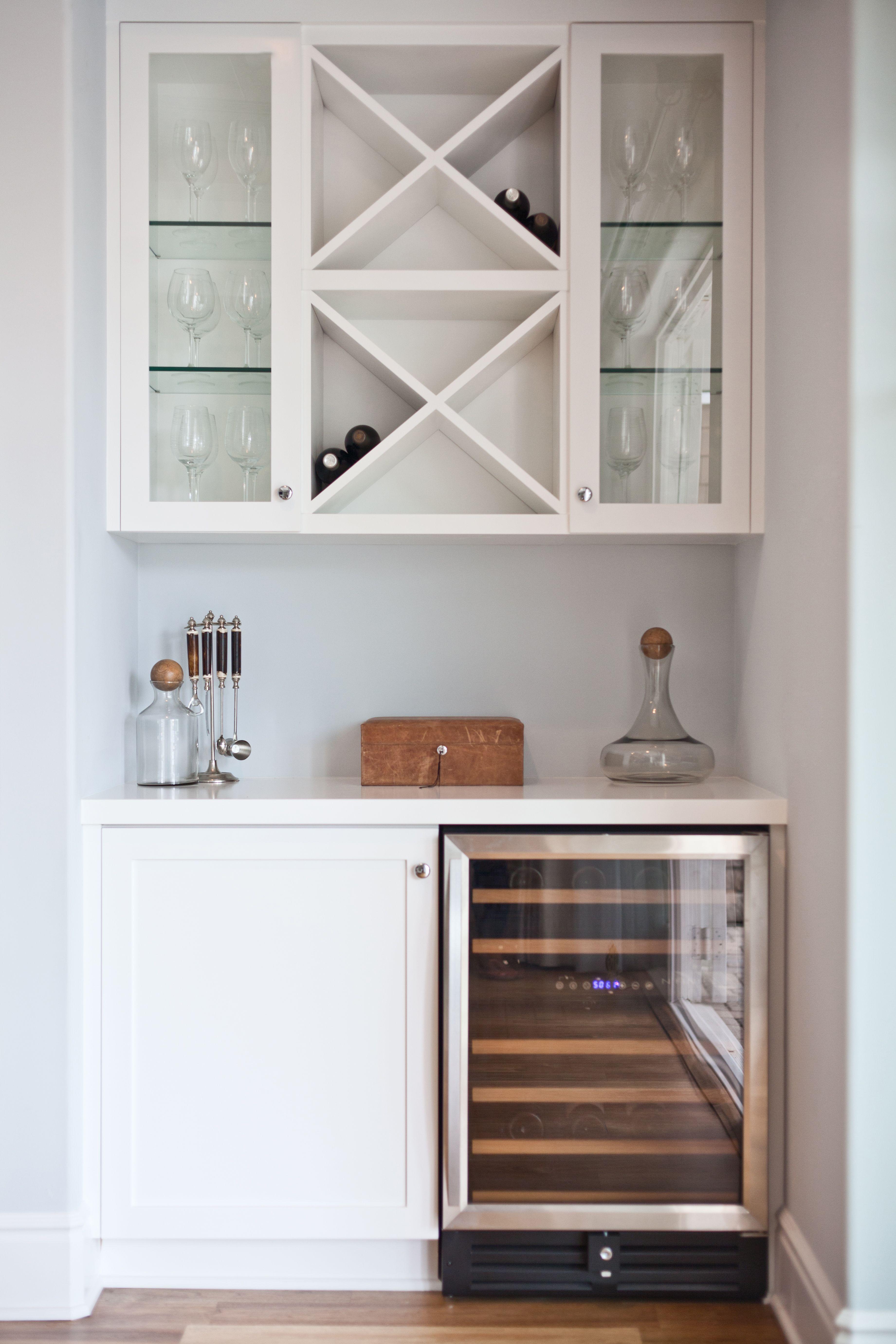 Lindye Galloway Design Lovely lil minibar station with bat fridge