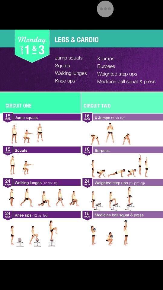 de Bikini Body Guide one. Monday Week 1 and 3