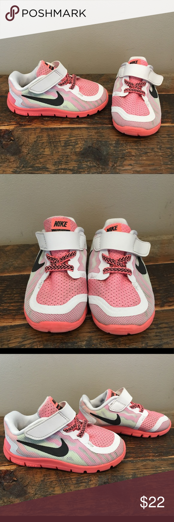 Nike Free 5.0 Girls Running Shoes Sz Youth 7