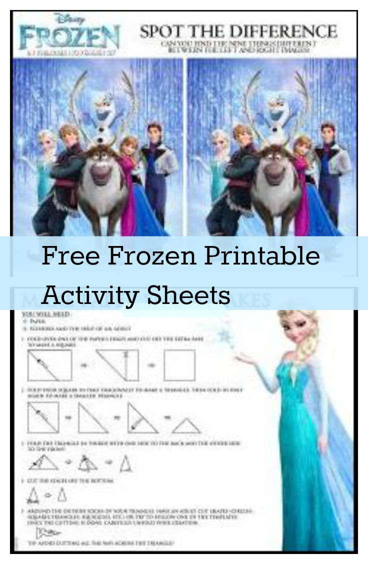 picture regarding Free Olaf Printable referred to as Frozen - Free of charge Printable Sport Sheets Upstate Ramblings