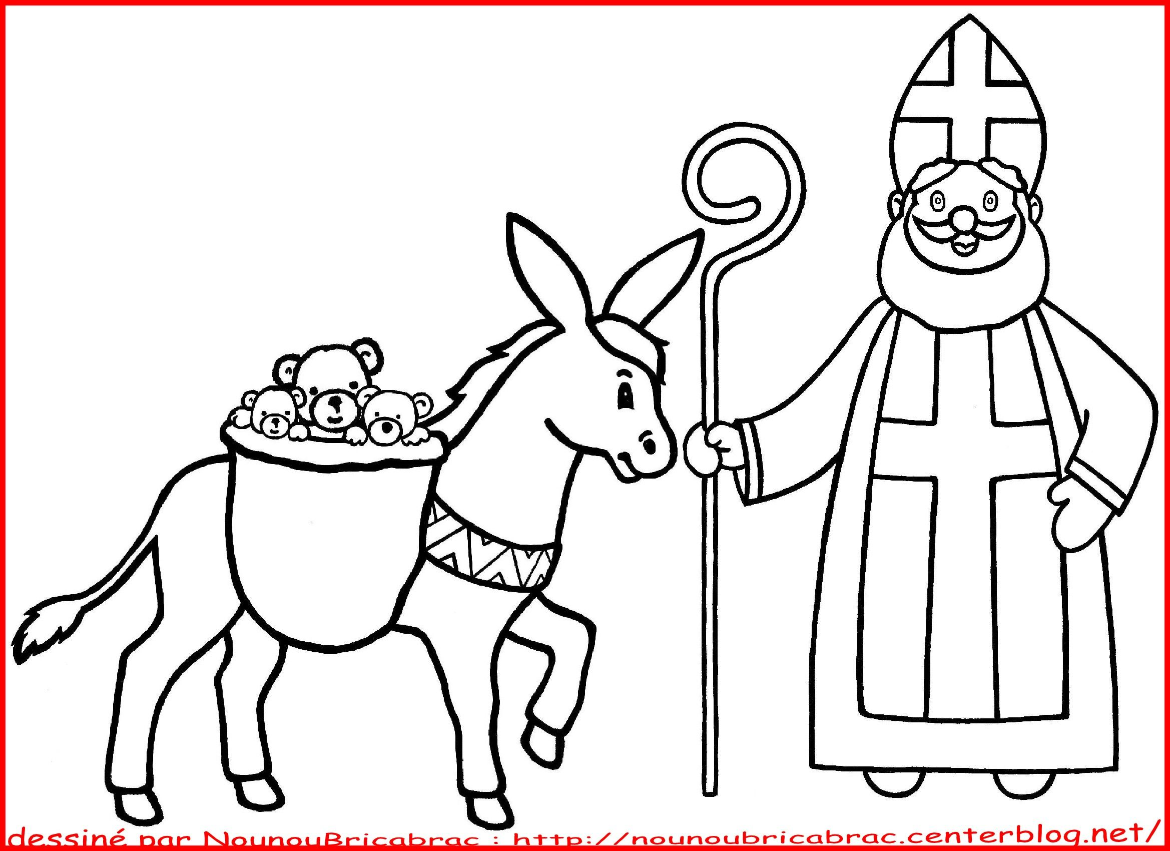 Coloriages Saint Nicolas Sinterklaas Thema