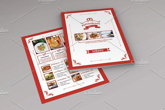 Restaurant Menu Flyer TemplateV By Template Shop On