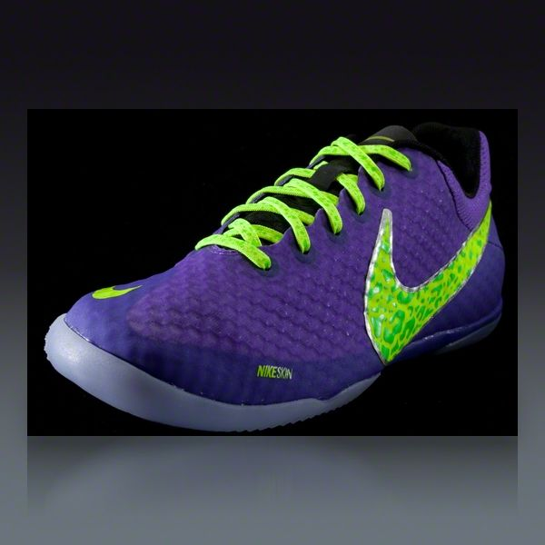 951989e21cc Nike Elastico Finale II - Pure Purple Volt Electric Green Indoor Soccer  Shoes ~