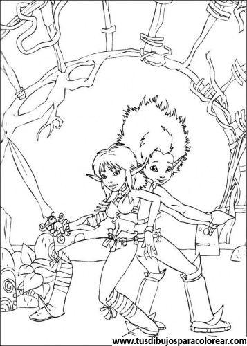 Arthur y los Minimoys para colorear | Tommie | Pinterest | Coloring ...