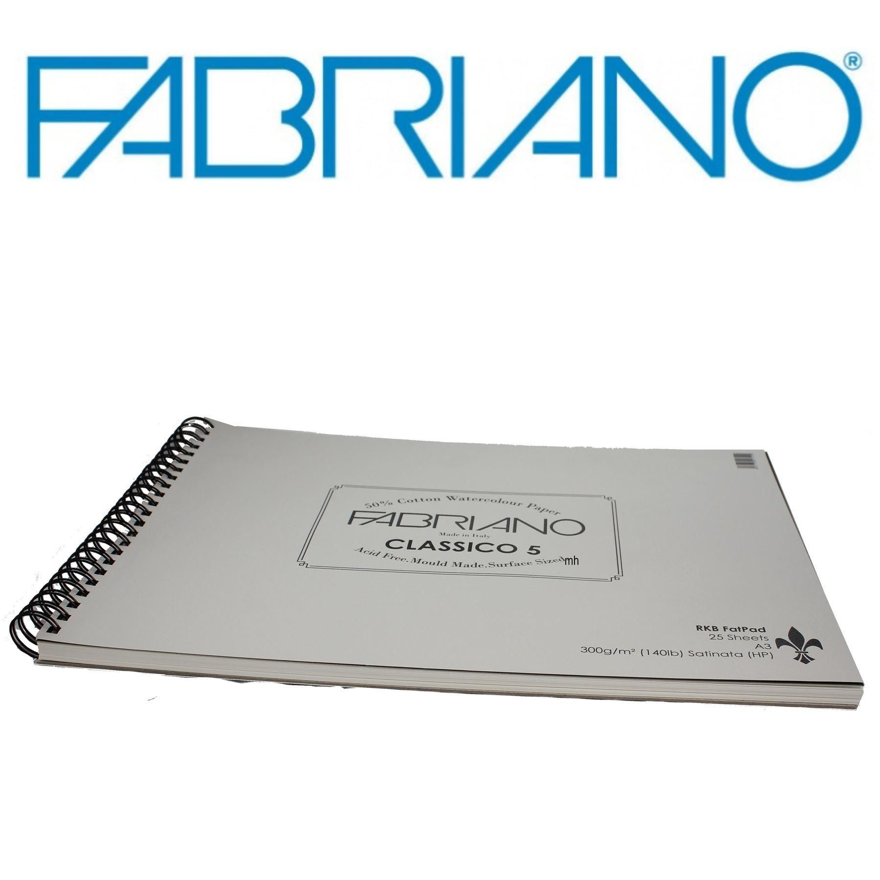 Fabriano 5 watercolour paper sheets 300gsm Hot Press Cold Press 50/% cotton paper