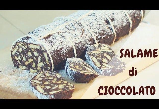 Salame Di Cioccolato Dolcezze Da Gustare Pinterest