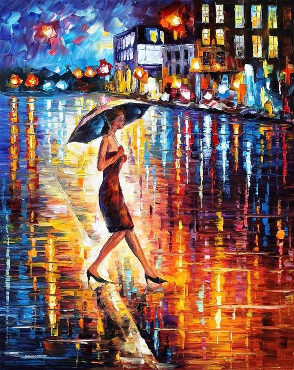 Late return - Obra de Leonid Afremov #Painter #painting #art