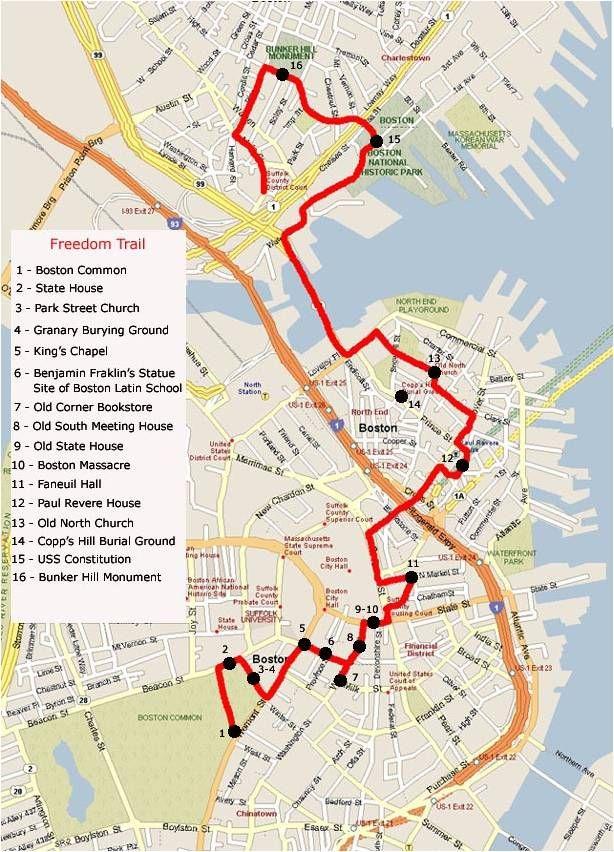 Boston Freedom Trail Map | Travel | Pinterest | Boston, Freedom