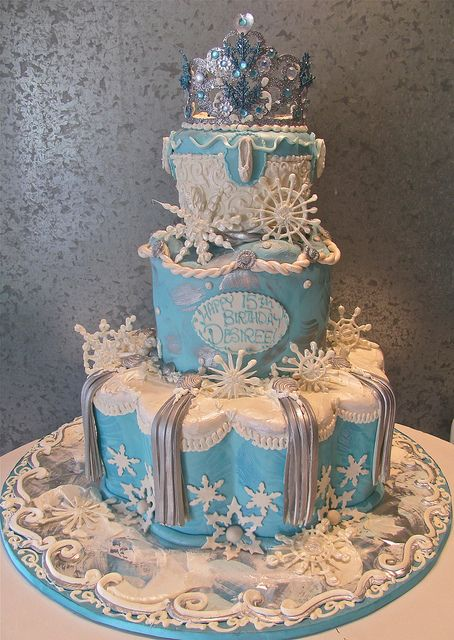 Turquoise Pasha Snowflake by Rosebud Cakes - 25 Year Anniversary, via Flickr
