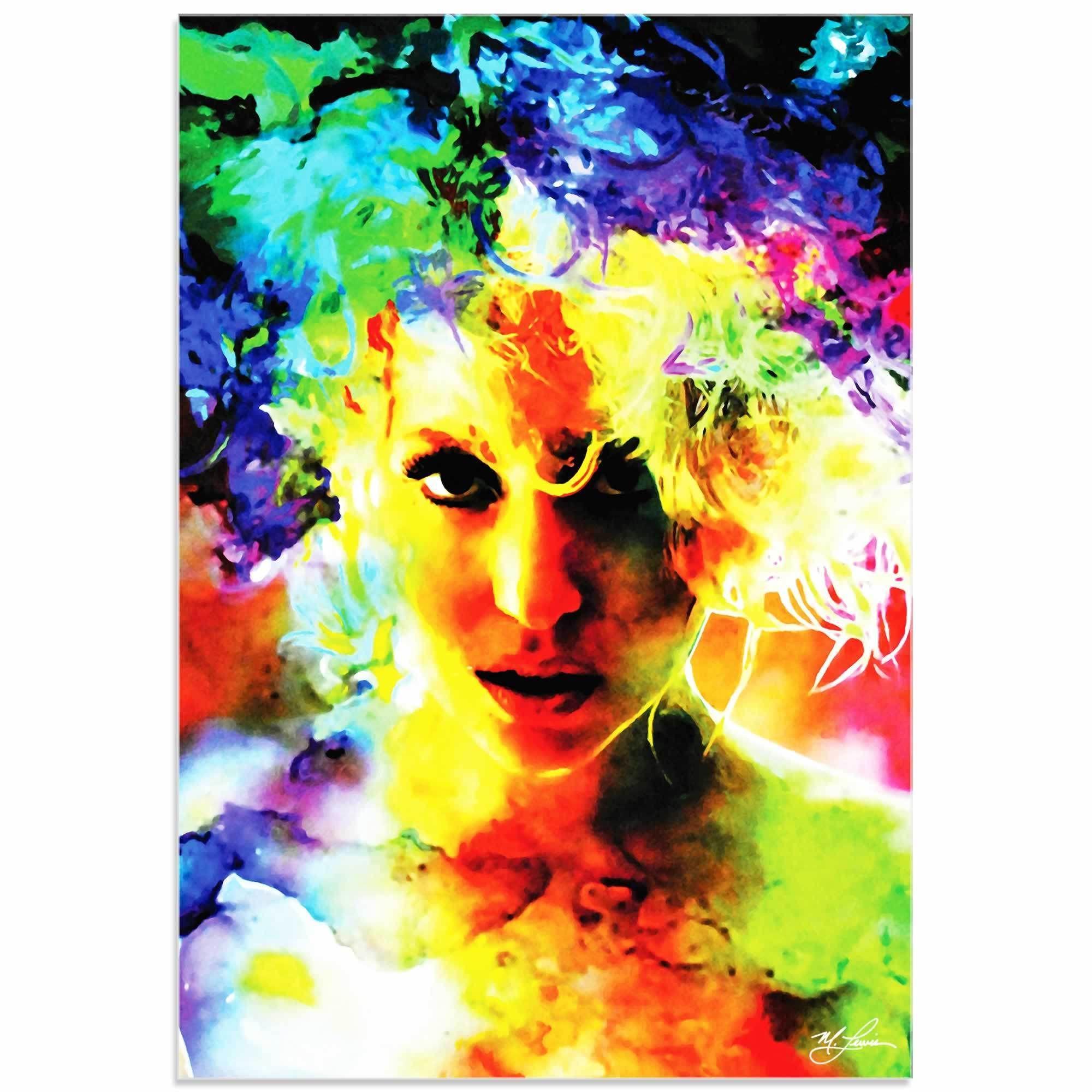 Mark Lewis 'Lady Gaga Study' Limited Edition Pop Art Print on